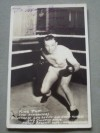 Fighting King Tut Former Welterweight Contender Who Fought Hall Of Famers Jackie Fields And Billy Petrolle SIGNED And INSCRIBED Postcard