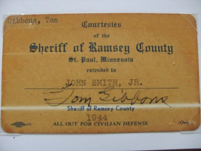 Tommy Gibbons Hall Of Famer Who Fought Iconic Legends Jack Dempsey And Gene Tunney SIGNED Business Card
