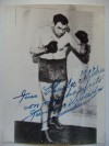 Paolino Uzcudun Former Heavyweight Contender Who Fought Joe Louis And Max Schmeling Plus Baer And Carnera SIGNED And INSCRIBED Photo