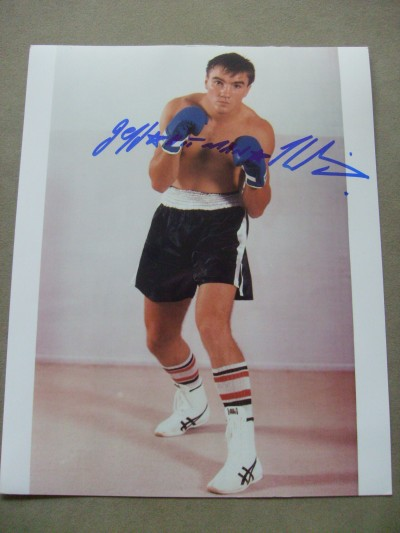 Jeff Harding Former 2 X WBC Light Heavyweight World Champion In 1989 And 1991 SIGNED Photo