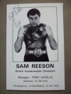 Sammy Reeson Former British And European Cruiserweight Champion And World Title Contender SIGNED And INSCRIBED Promotional Photo