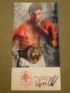 Wayne McCullough Former WBC Bantamweight World Champion SIGNED Official Fan Club Promotional Photo