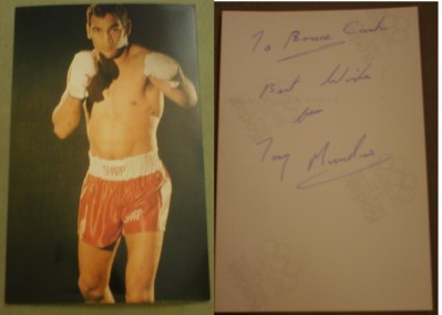Tony Mundine One Of Australias Boxing Legends Who Fought The Great Carlos Monzon And Bennie Briscoe SIGNED And INSCRIBED Photo