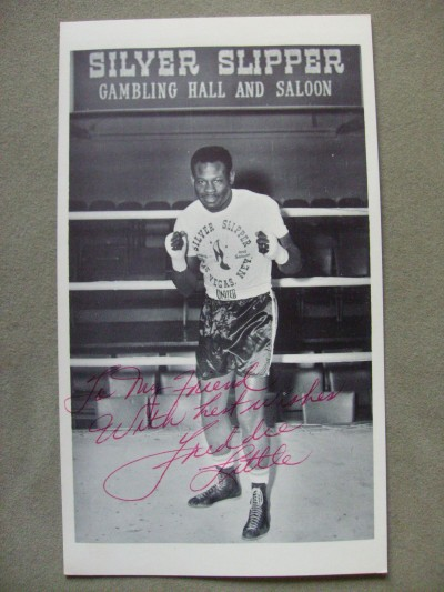 Freddie Little Former Light Middleweight World Champion SIGNED And INSCRIBED Photo