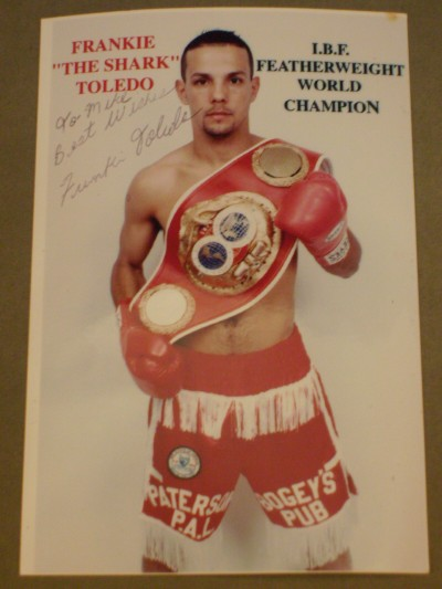 Frankie Toledo Former IBF Featherweight World Champion SIGNED And INSCRIBED Promotional Photo