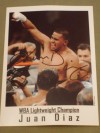 Juan Diaz Former Unified Lightweight World Champion SIGNED Promotional Photo