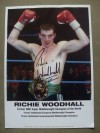 Richie Woodhall Former WBC Super Middleweight World Champion SIGNED Oversized Promotional Photo