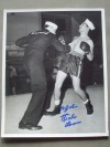 Richie Lemos Former NBA Featherweight World Champion SIGNED And INSCRIBED Official USA Naval Photo