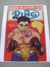 Vic Toweel Former Bantamweight World Champion From 1950 to 1952 SIGNED The Ring Magazine Front Cover Photo