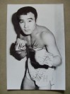 Fighting Harada Former 2 Weight World Champion And Hall of Famer SIGNED In English And Japanese Boxing Pose Photo