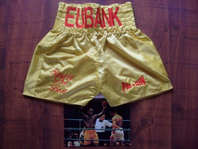 Chris Eubank FIGHT WORN Trunks From His 1st Fight Against Michael Watson For The WBO Middleweight Title