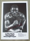 Jose Ribalta Former Heavyweight Contender Who Fought Tyson And Bruno Plus Holmes SIGNED Promotional Photo