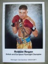 Robbie Regan Former WBO Bantamweight World Champion SIGNED Early Career Promotional Photo