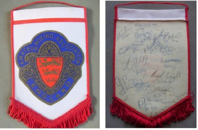 England ABA 1999 Multi Nations Tournament Pennant MULTI SIGNED By Team Members Including David Haye And Carl Froch
