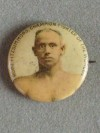 Bob Fitzsimmons Former Heavyweight World Champion 1897 to 1899 RARE 110 Year Old Pin Badge
