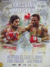 Manny Pacquiao vs Shane Mosley WBO Welterweight Title Limited Edition Commemorative Onsite Poster By World Renowned Artist Richard T Slone
