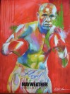 Floyd Mayweather Jr Undefeated 5 Weight World Champion Limited Edition Mayweather Promotions Poster By World Renowned Artist Richard T Slone