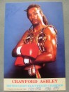Crawford Ashley Former British And Commonwealth And European Light Heavyweight Champ And WBA World Title Challenger SIGNED And INSCRIBED Promo Photo
