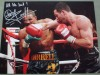 Carl Froch WBC Super Middleweight World Champion SIGNED And INSCRIBED Action Shot Photo Against Andre Dirrell