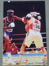 Juan Hernandez Sierra Former Welterweight 2 x Olympic Silver Medallist Barcelona 1992 And Atlanta 1996 SIGNED Action Shot Photo