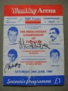 Alan Minter vs Vito Antuofermo II Also Featuring Charlie Magri And Johnny Owen Official Onsite Programme SIGNED By Minter And Magri