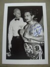 Orlando Canizales Former IBF Bantamweight World Champion And Hall Of Famer SIGNED And INSCRIBED Original Press Photo