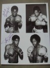 Johnny Bumphus Former WBA Light Welterweight World Champion And Middleweight Contender Alex Ramos SIGNED NBC TV Fight Broadcast Promotional Photo