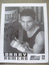 Danny Romero Former IBF Fly And Super Flyweight World Champion SIGNED And INSCRIBED Promotional Photo