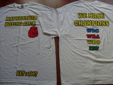 cb5258efab4 RARE Team Mayweather Tee Shirt As Worn On The 24 7 HBO 4 Part Series For  The Victor Ortiz Fight