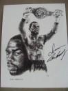 Iran Barkley Former WBC Middleweight World Champion Who Also Defeated Thomas Hearns On 2 Occasions SIGNED Sketch