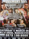 Joe Calzaghe vs Jeff Lacy Super Middleweight World Title Unification Official Onsite Poster SIGNED By Joe Calzaghe And Enzo Maccarinelli