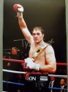 Tyson Fury Undefeated British And Commonwealth Heavyweight Champ SIGNED And INSCRIBED After Fight Victory Celebration Photo