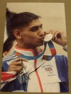 Amir Khan Former 2004 Athens Olympic Silver Medallist And Current Light Welterweight World Champion SIGNED Photo