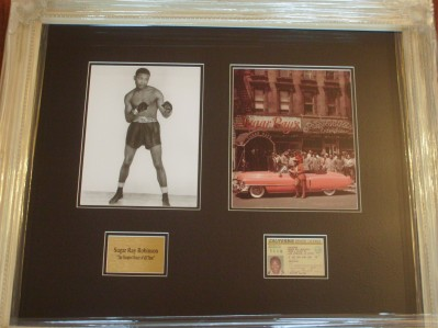 Sugar Ray Robinson Greatest Ever Pound 4 Pound Boxer SIGNED ORIGINAL 1978 to 1979 California Drivers License