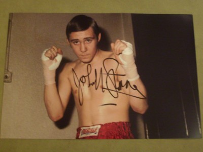 A Young John H Stracey Who Became British And European Plus WBC Welterweight World Champion SIGNED Boxing Pose Photo