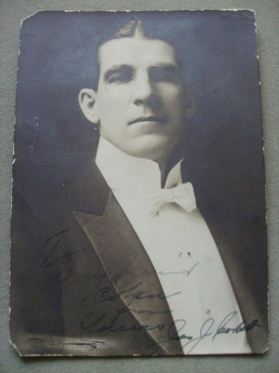 James J Corbett Former World Heavyweight Champion 1892 to 1897 SIGNED And INSCRIBED Studio Photo