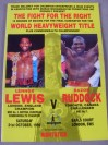 Lennox Lewis vs Donovan Razor Ruddock Official Onsite Programme Also SIGNED By Former World Champs Mike McCallum And Herbie Hide Plus Colin McMillan