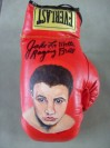 Jake LaMotta Former Middleweight World Champion 1949 to 1951 SIGNED And INSCRIBED Unique RARE And ORIGINAL Hand Painted Everlast Glove