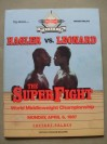Marvin Hagler vs Sugar Ray Leonard WBC Middleweight World Title Official Onsite Programme
