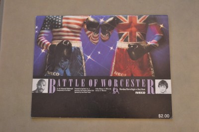 RARE Marvin Hagler vs Tony Sibson WBC And WBA World Middleweight Title Official Onsite Programme