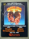Larry Holmes vs Tim Witherspoon WBC World Heavyweight Title Also Featuring Dokes vs Weaver II Official Onsite Programme SIGNED And DATED By Holmes