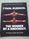 Mike Tyson vs Donovan Ruddock I Official Onsite Programme