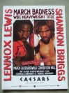 Lennox Lewis vs Shannon Briggs WBC World Heavyweight Title Official Onsite Programme SIGNED By Lennox Lewis