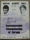 Alan Rudkin vs Franco Zurlo European Bantamweight Title Official Onsite Programme SIGNED By Alan Rudkin Along With Pritchett And Undercard Fighters