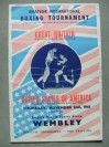 RARE GB vs USA 1961 Amateur Boxing Tournament Official Onsite Programme Featuring Alan Rudkin Plus McTaggart And Walker