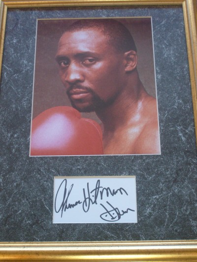 Thomas Hitman Hearns SIGNED Index Card