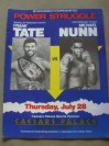 Frank Tate vs Michael Nunn IBF Middleweight World Title Official Onsite Programme Also Featuring Michael Watson