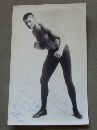 Phil Scott Former British And Commonwealth Heavyweight Champion 1924 to 1931 Also Fought Jack Sharkey SIGNED And INSCRIBED Vintage Photo