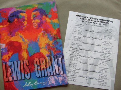 Lennox Lewis vs Michael Grant WBC And IBF Plus IBO World Heavyweight Title Official Onsite Over Sized Programme Plus Offical Bout Sheet