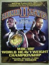 Hasim Rahman vs Lennox Lewis II WBC And IBF Plus IBO World Heavyweight Title Official Onsite Programme